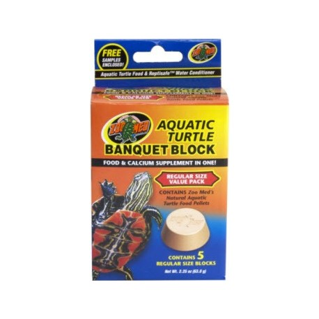 Aquatic Turtle Banquet Block - 5pk (Zoo Med)