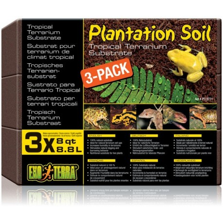 Plantation Soil - 3 Bricks (Exo Terra)
