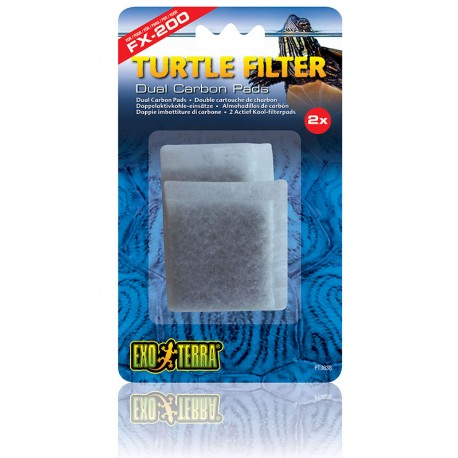 Turtle Filter FX-200 Dual Carbon Pads (Exo Terra)