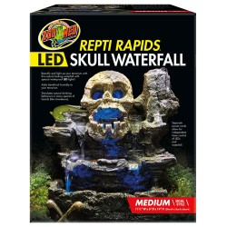 Repti Rapids LED Skull Waterfall - Medium (Zoo Med)