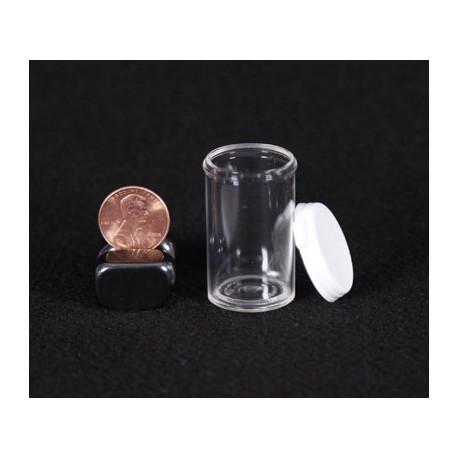 Clear Plastic Vial - 3.5 Dram