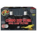 Combo Deep Dome Dual Lamp Fixture (Zoo Med)