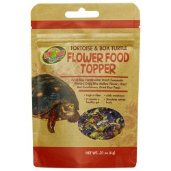Flower Food Topper - Tortoise & Box Turtle - 1.41 oz (Zoo Med)