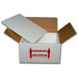 "Shipping Box 12"" x 9"" x 6"" - 3/4"" Foam (10 Pack)"