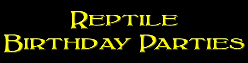 Reptile Birthday Parties!