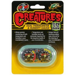 Creatures Dual Thermometer & Humidity Gauge (Zoo Med)