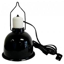 """Reptile Light Dome - Gloss Black - 5 1/2"""" (Lugarti)"""