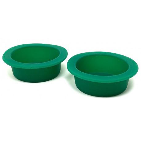 Silicone Gecko Food Dish - Green - LG (2pk)